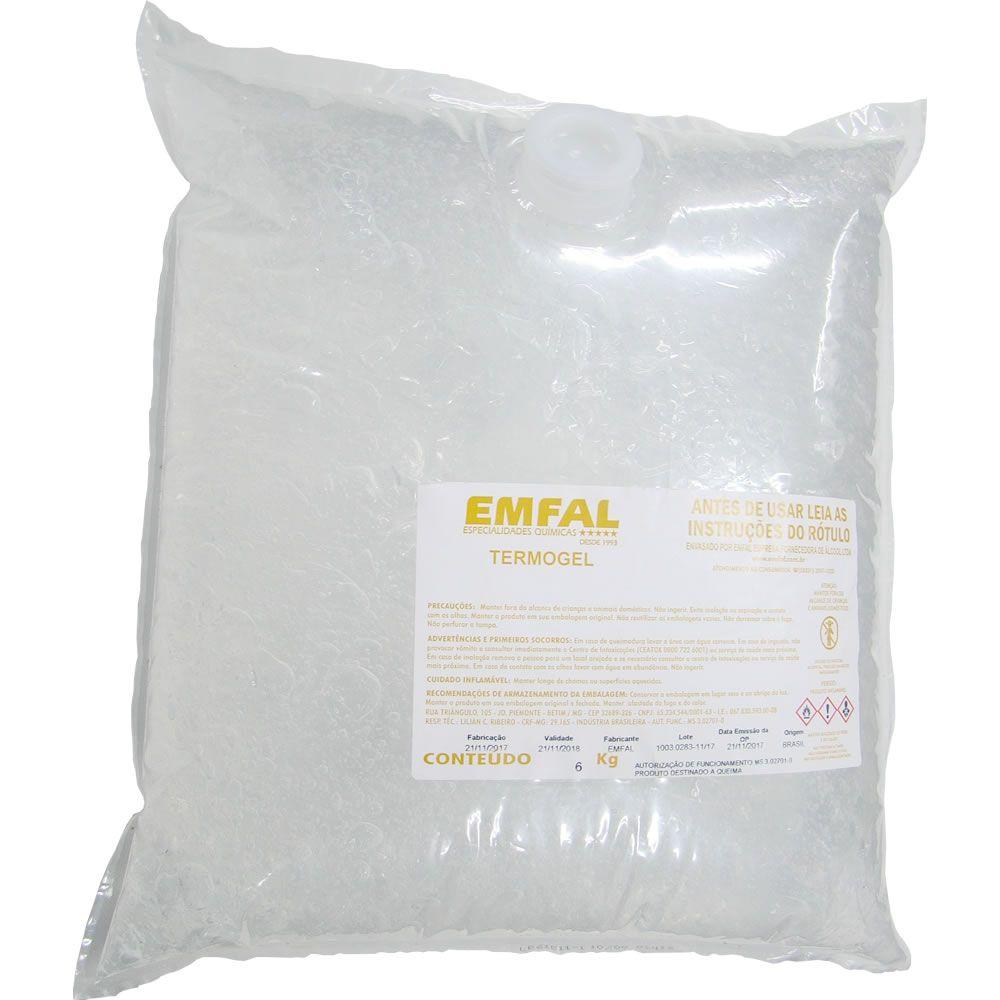 Termogel - Álcool em Gel  70% Saco 6kg Máx 3 un por pedido