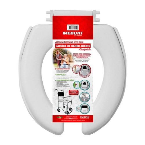 Assento Sanitário Almofadado Aberto Para Cadeira De Banho