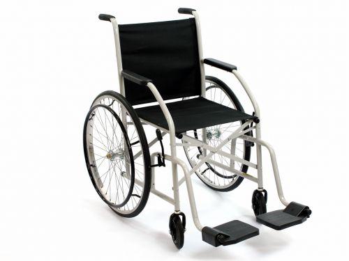 Cadeira De Rodas Cds 101 Cinza Rodas de Raida Com Pneus Maciços