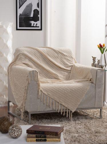 Manta Xale Decorativo Para Sofá Italiana 135x150cm - Ecaza