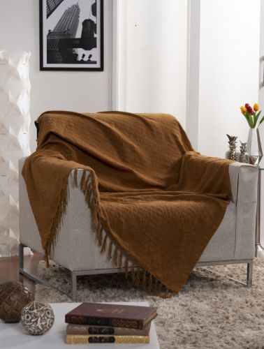 Manta Xale Gigante Decorativo Para Sofá Italiana 250x135cm - Ecaza