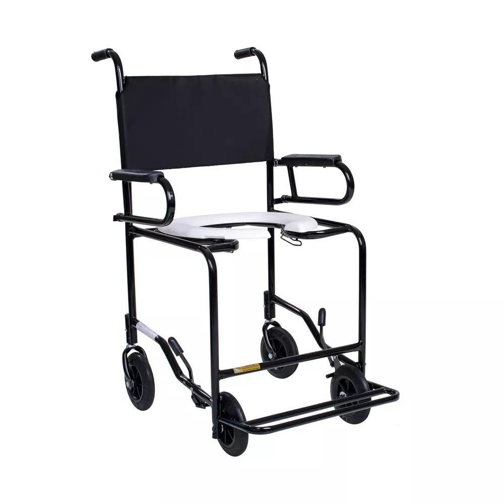 Cadeira De Banho Cds 201 Escamoteavel Preta