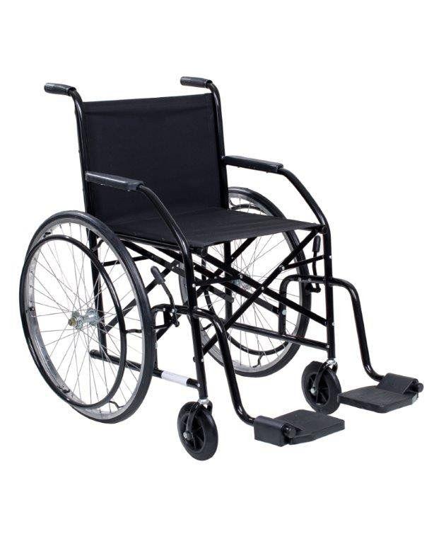 Cadeira De Rodas Cds 102 Preta Rodas de Raida Com Pneus Infláveis