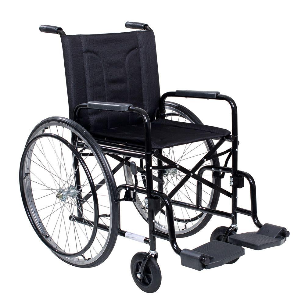 Cadeira De Rodas Cds M2000 Preta Com Pneus Maciços