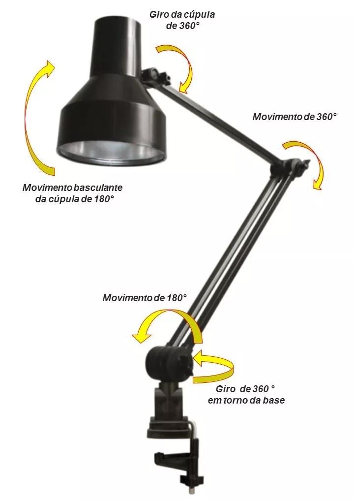 Luminária multifuncional Dobrável