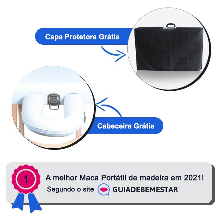 Maca Portátil com orifício Madeira 200kg + Capa de Proteção Grátis