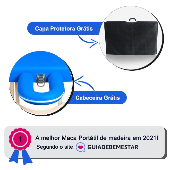 Maca Portátil Madeira 200kg + Capa de Proteção Grátis