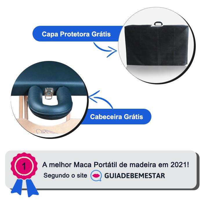 Maca Reclinável com orifício Madeira 200kg + Capa de Proteção Grátis