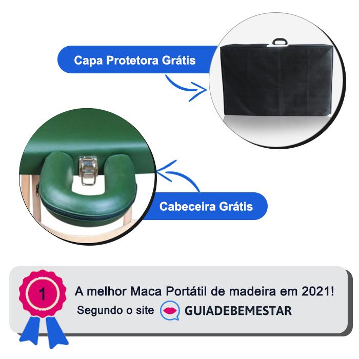 Maca Reclinável Madeira 200kg + Capa de Proteção Grátis