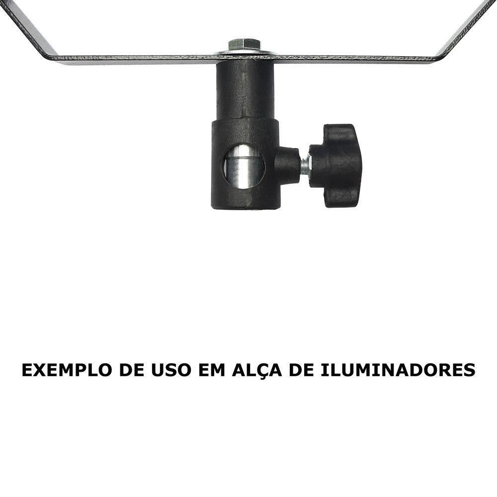 """AT795C - Adaptador de rosca macho 3/8"""" para alça """"U"""" de iluminadores"""