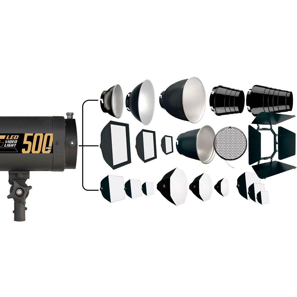 AT065 Iluminador Video Light Led 500 PRÓ 5500K