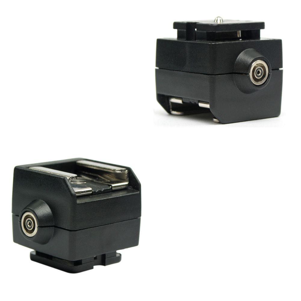 ATSAP Sapata PC para câmeras Canon e Nikon (sincronismo para flashes e geradores)