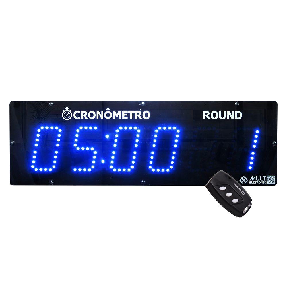 Cronômetro Digital de Parede para Academia Crossfit Multeletronic Azul