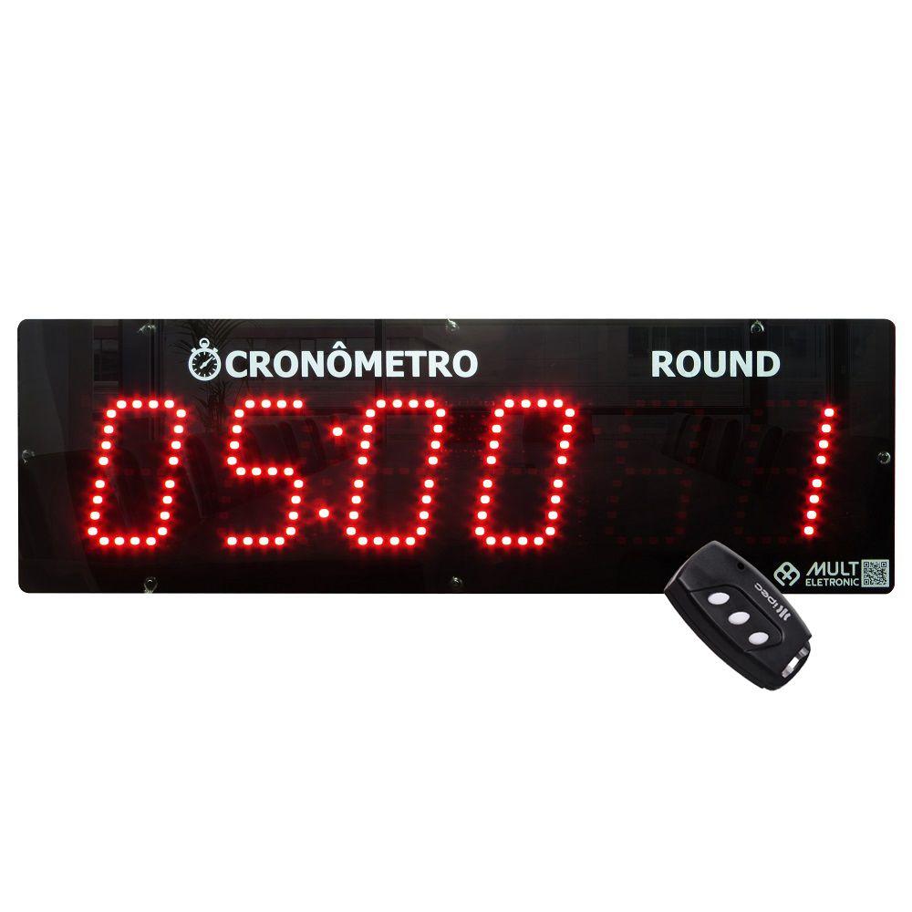Cronômetro Digital de Parede para Academia Crossfit Multeletronic Vermelho