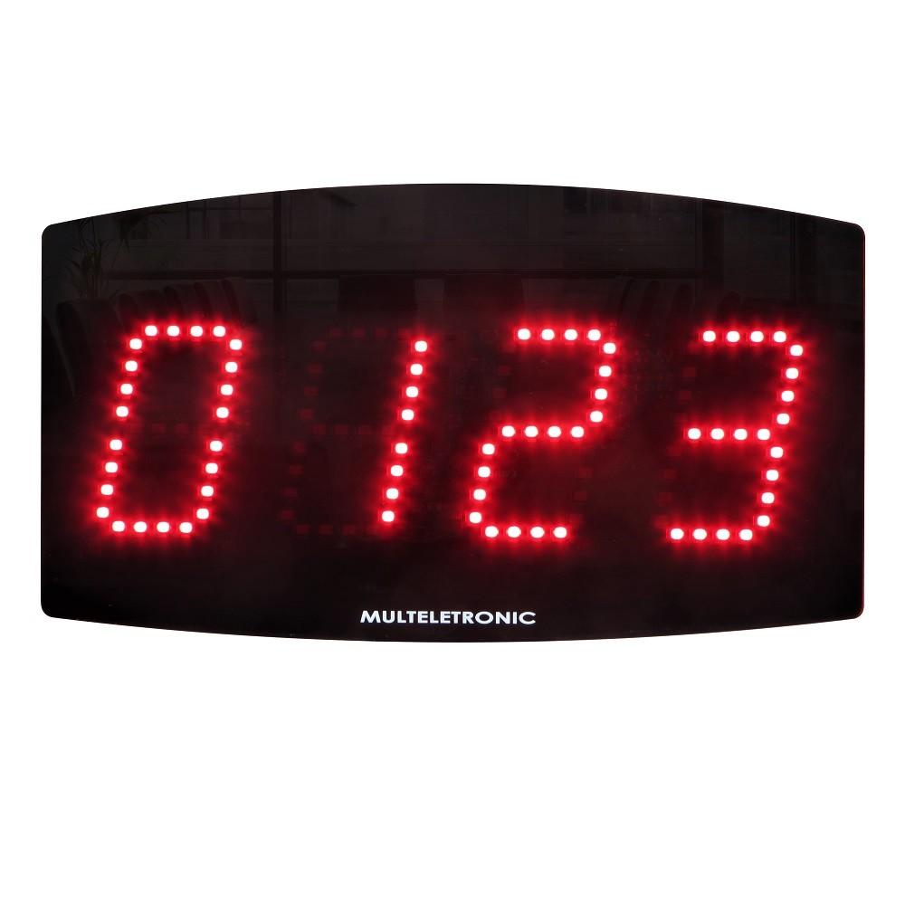 Painel Contador Digital LED Multeletronic Vermelho