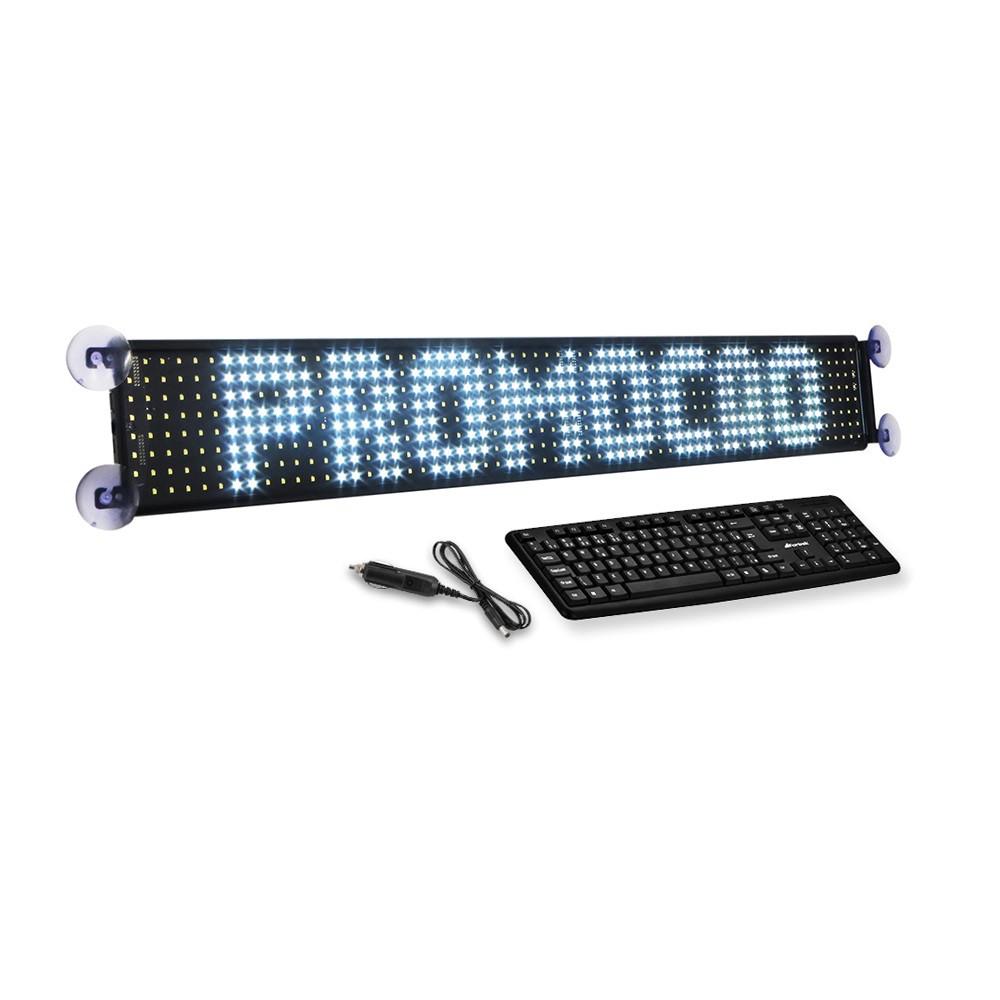Painel de Mensagens Itinerário LED Multeletronic com 8 Linhas 90cm Branco