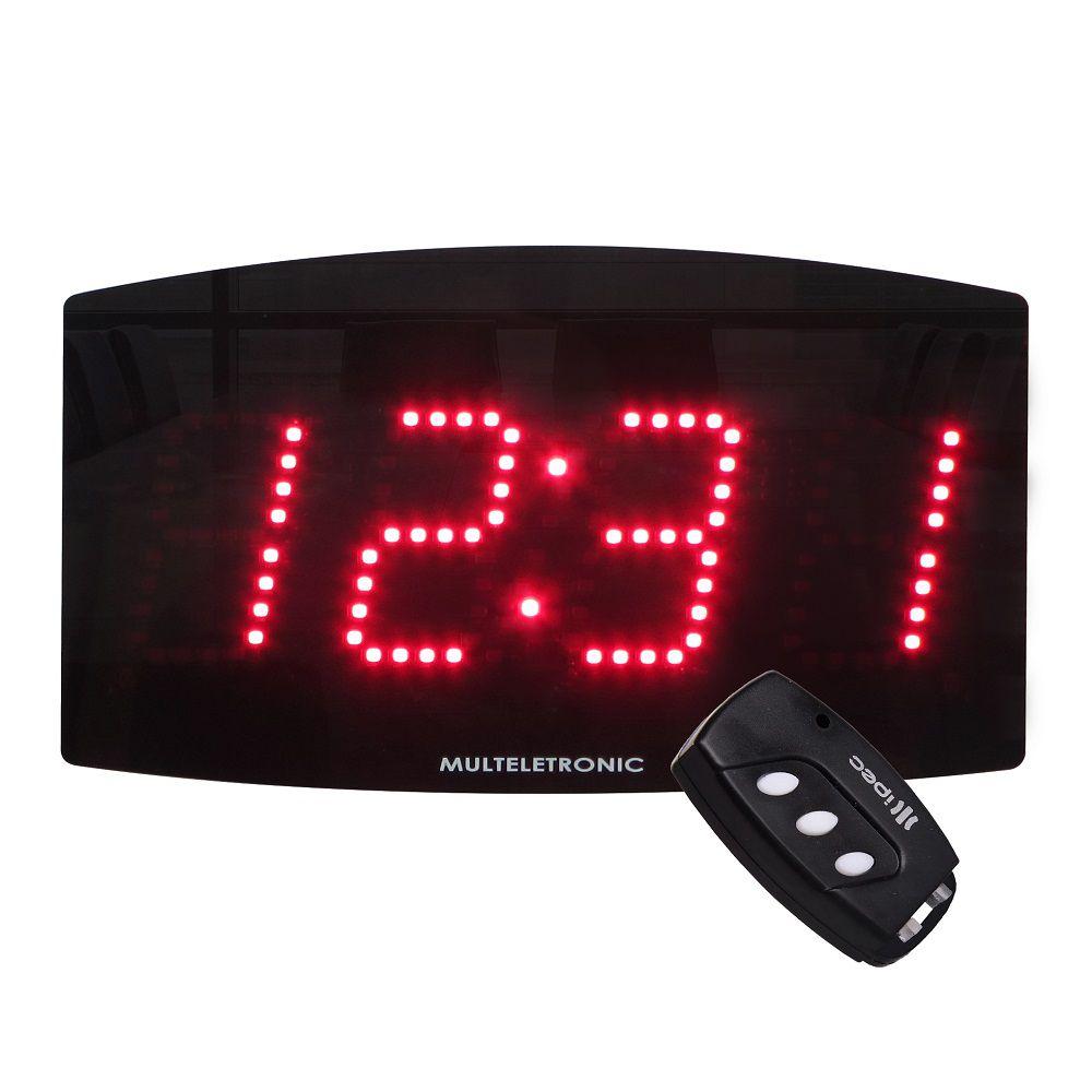 Painel Relógio LED de Alta Visibilidade Multeletronic Vermelho
