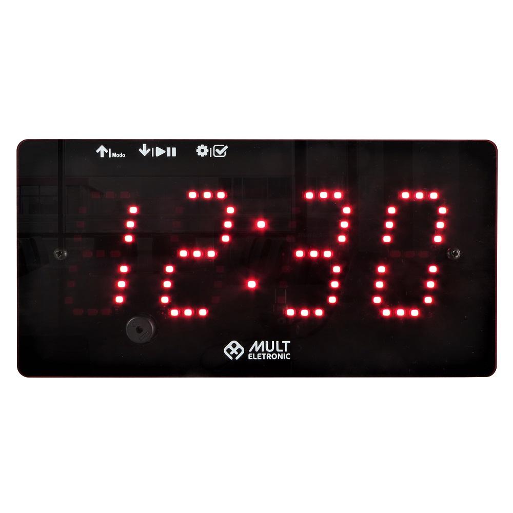 Relógio Cronômetro LED Digital Portátil Multeletronic 20x10cm