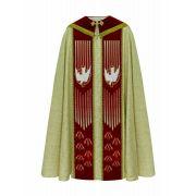 Capa de Benção Tecido Brocado Com Pedraria Swarovski 608.1025