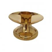 Castiçal com Bocal 9x11,5cm Dourado