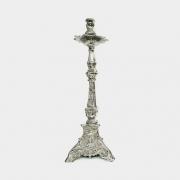 Castiçal em Bronze Niquelado 43cm