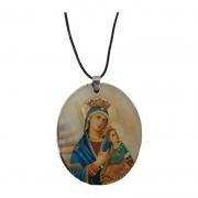 Colar Italiano com Medalha de Nossa Senhora do Perpétuo Socorro