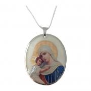 Colar Italiano com Medalha Nossa Senhora Mãe de Deus