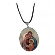 Colar Italiano com Medalha Sagrada Família