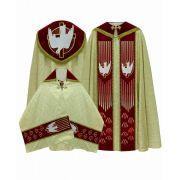 Conjunto de Bênção do Espírito Santo com Veludo e Pedraria Swarovski