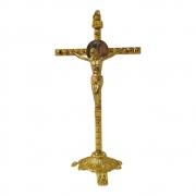 Crucifixo de Mesa 28cm Dourado
