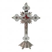 Crucifixo de Mesa 30cm Niquelado