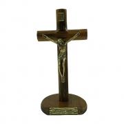 Crucifixo de Mesa e Parede 17cm