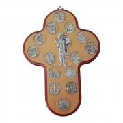 Crucifixo de Parede Via Sacra 25cm