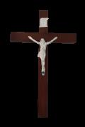 Crucifixo Tradicional 24x15 Prata