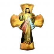 Cruz de Parede Jesus Misericordioso 20x14,5cm