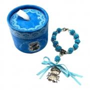 Dezena em Crochê Anjo da Guarda Italiano Azul