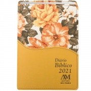 Diário Bíblico 2021 - Luxo - Ouro Floral