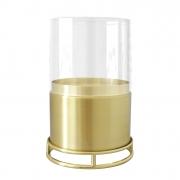 Economizador de Velas 70mm Dourado com Vidro