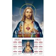 Folhinha Sagrado Coração de Jesus 2021