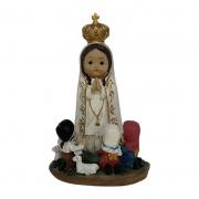 Imagem Nossa Senhora de Fátima com Pastorinhos Infantil 13cm