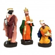 Imagem Três Reis Magos 12cm