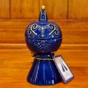Incensário Esmaltado Nossa Senhora Aparecida 11cm Azul