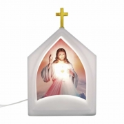Luminária de Mesa Oratório Iluminada Jesus Misericordioso