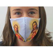 Máscara Coleção Fé - Coração de Maria e Jesus