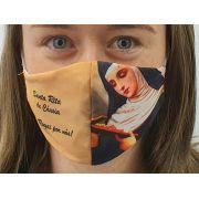 Máscara Coleção Fé - Santa Rita de Cássia