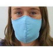 Máscara de Rosto Azul em Tecido Duplo Lavável