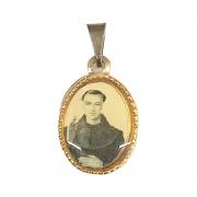 Medalha Oval 12mm Alumínio Frei Galvão