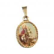 Medalha Oval 12mm Alumínio São Jorge