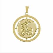 Medalha São Jorge com borda 3,5 cm