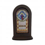 Oratório de Mesa MDF Vitral Anjos